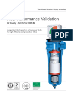 Compressed Air Filter Performance Validation Brochure
