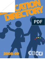 COCA's Arts in Education Directory 2009