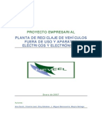 Proyecto Empresarial Planta de Reciclaje de Vehiculos Fuera de Uso y Aparatos Electricos y Electronicos