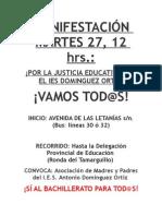 MANIFESTACIÓN MARTES 27