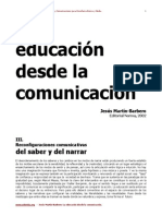 Martin Barbero La Edu Desde La Com Cap. 3