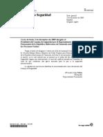 Carta Dirigida Al CS Por Venezuela 03122009