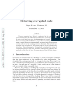 Detecting encrypted code