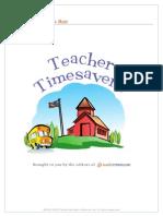 Teacher Timesavers Templates