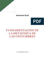 Fundamentacion Metafisica de Las Costumbres