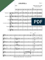 Amapola.orquesta e Instrumentos.solfeo y Cifra