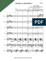 Ojos de La Espanyola.orquesta e Instrumentos.solfeo y Cifra
