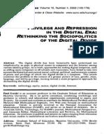 Gorski, Paul - Privilege and Repression in the Digital Era