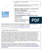 Nash, Catherine - Trans Geographies, Embodiment and Experience