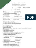 Evaluación Diagnostica de Historia y Geografía octavo