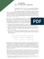 Questions Classtest2 3901