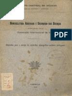 Nomenclatura Abreviada das Doen+ºas 1909