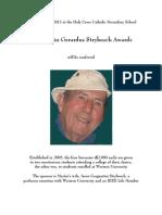 The Martin Gerardus Strybosch Awards