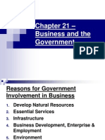 chapter 21  business and the government