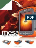 MESA Rugged NotepadOwnerManual