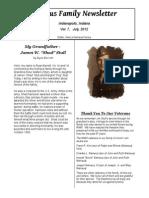 2012 Niehaus Family Newsletter