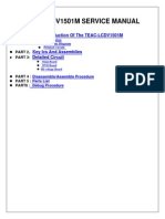 TEAC LCDV1501M Service Manual