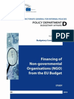 Financing of Non-Governmental Organisations (NGO) from the EU Budget [BA3110925ENC_002]