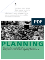 Planning Sustainable Waste Management