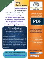 Dynamic Self Governance Scotland Events 2013
