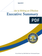 PDF containing  how to write an effective Executive Summary