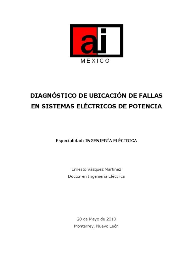 Diagnostico de Ubicacion de Fallas en Sistemas Electricos de Potencia
