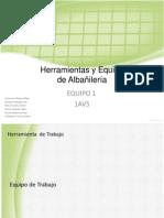 herramientas y equipo para Albañileria