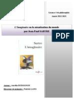Aurelia Dudognon L Imaginaire Ou La Neantisation Du Monde Version Corrigee
