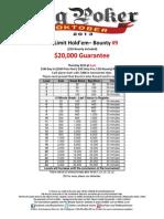 BPO Event No. 9 NLH Bounty - $20K GTD