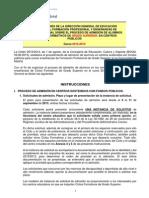 Instrucciones de la Dirección General de Educación sobre el proceso de admisión de alumnos en Ciclos formativos de Grado Superior 2013 - 2014