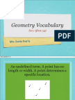 Geometry Vocabulary Set 1