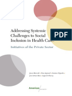 Addressing Systemic Challenges to Social Inclusion in Health Care