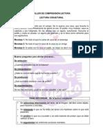 TALLER DE COMPRENSIÓN LECTORA-LECTURA CONJETURAL
