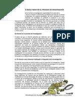 EL INFORME DE RESULTADOS EN EL PROCESO DE INVESTIGACIÓN