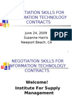 Negotiation Skills For Information Technology Contracts