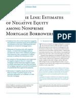 Negative Equity Estimates