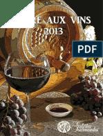 Catalogue - Foire Aux Vin 2013 - Galeries Gourmandes