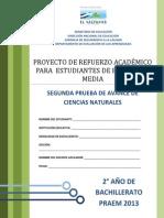 Segunda Prueba de Avance de Ciencias Naturales - Segundo Ao de Bachilllerato - Praem 2013