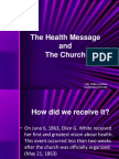 The Health Message and the Church