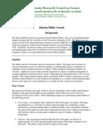 ORCOL MarionMillerAward Criteria[1]