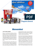 FIL Arequipa 2013 - Programa Cultural Del 26 de Setiembre Al 8 de Octubre