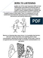 Barriers to Listening