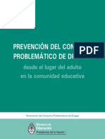 Prevencion Consumo Problematico Drogas Desde El Lugar Del Adulto en La Comunidad Educativa