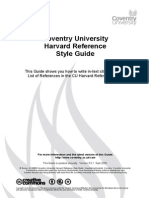 Coventry University Harvard Reference Style Guide