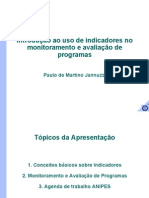 Jannuzzi - Indicadores para Monitoramento de Políticas Públicas