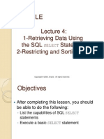 Oracle Lecture 4