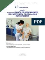 Administración de medicamentos vía endovenosa e instalación de fleboclisis