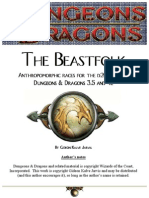D&D 3rd Edition - The Beastfolk