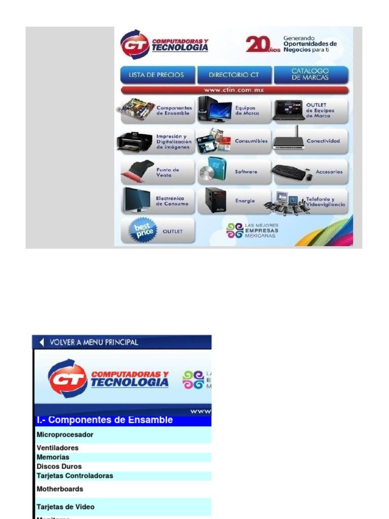 643 Lista de Precios de Ct 082613 | Disco duro | Intel