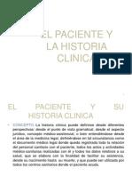 El Paciente y La Historia Clinica